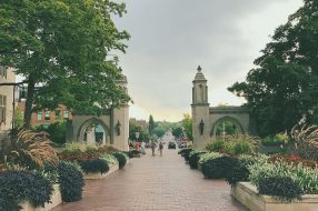 Photo showing the campus of Indiana University in Bloomington, Indiana