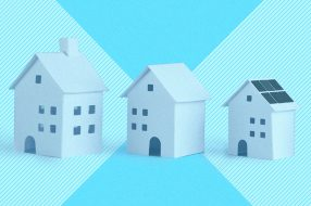 Illustration to accompany an article about the best time to buy a home