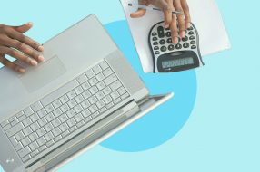 Photo illustration to accompany article that features savings calculator