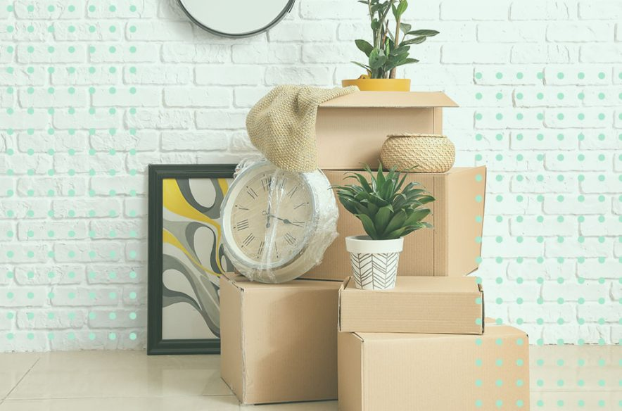 Photo illustration to accompany article on what home buyers should do between closing and move-in