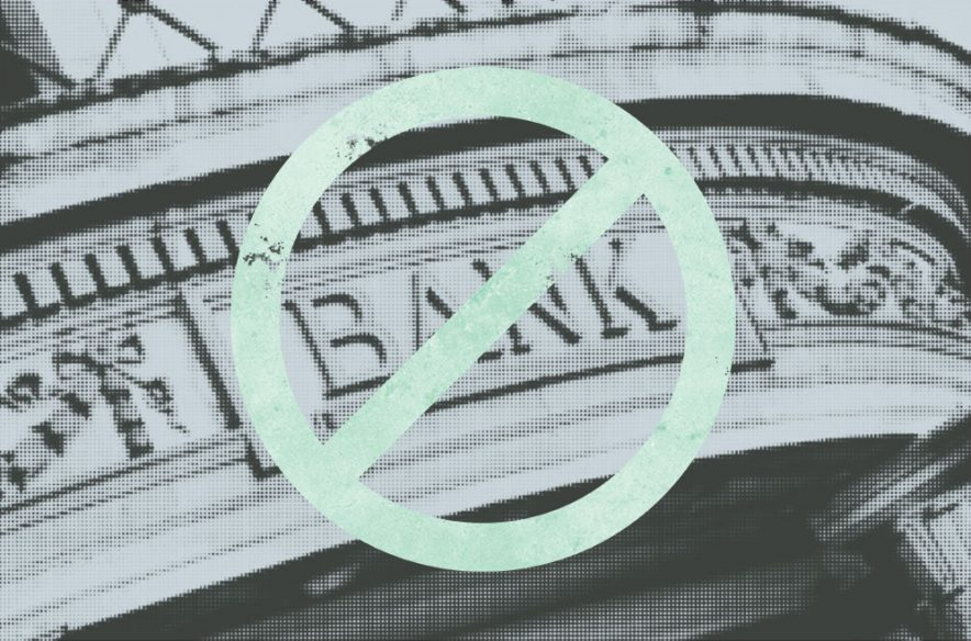 Photo illustration to accompany article on systemic barriers to the banking system that predominantly affect minorities and other low-income Americans