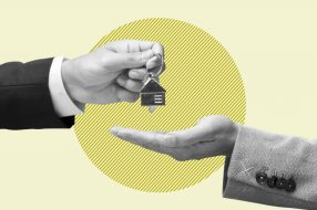 Photo illustration to accompany article on how to get a mortgage