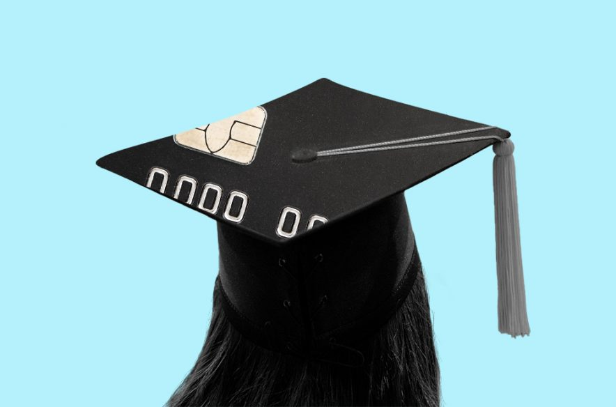 Photo to accompany story about paying student loans with a credit card.