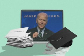 A photo to accompany a story about President Biden's plans for student debt relief