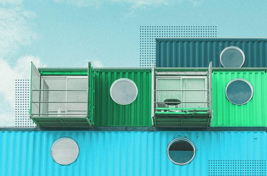 A photo to accompany a story about container homes