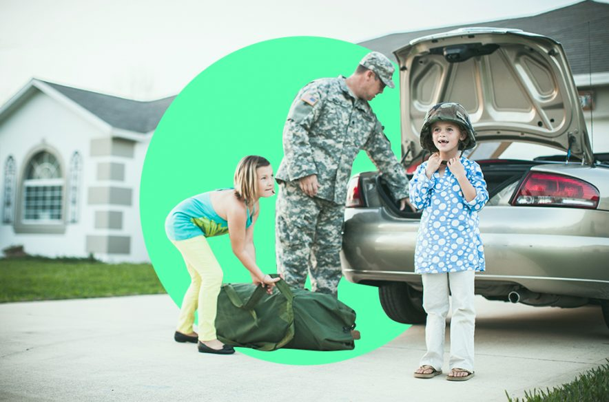 A photo to accompany a story about the best car insurance companies for veterans and military families