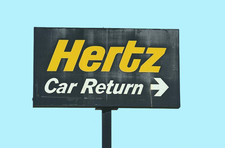 A photo to accompany a story about rental cars