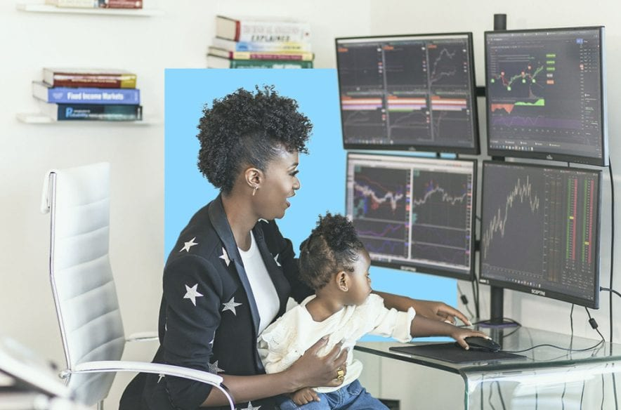 A photo to accompany a story about Dominique Broadway, who opened an investing portfolio worth $50,000 for her 18-month-old daughter
