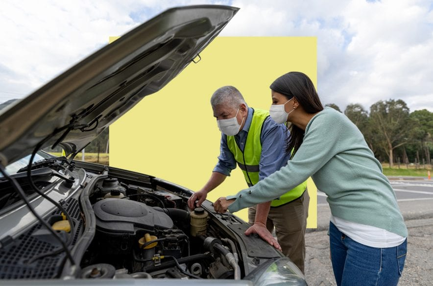 A photo to accompany a story about the best credit cards for roadside assistance