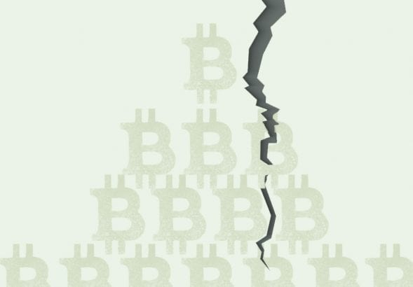 A photo to accompany a story about Bitcoin's price drop