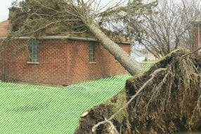 A photo to accompany a story about homeowners insurance and roof replacement options