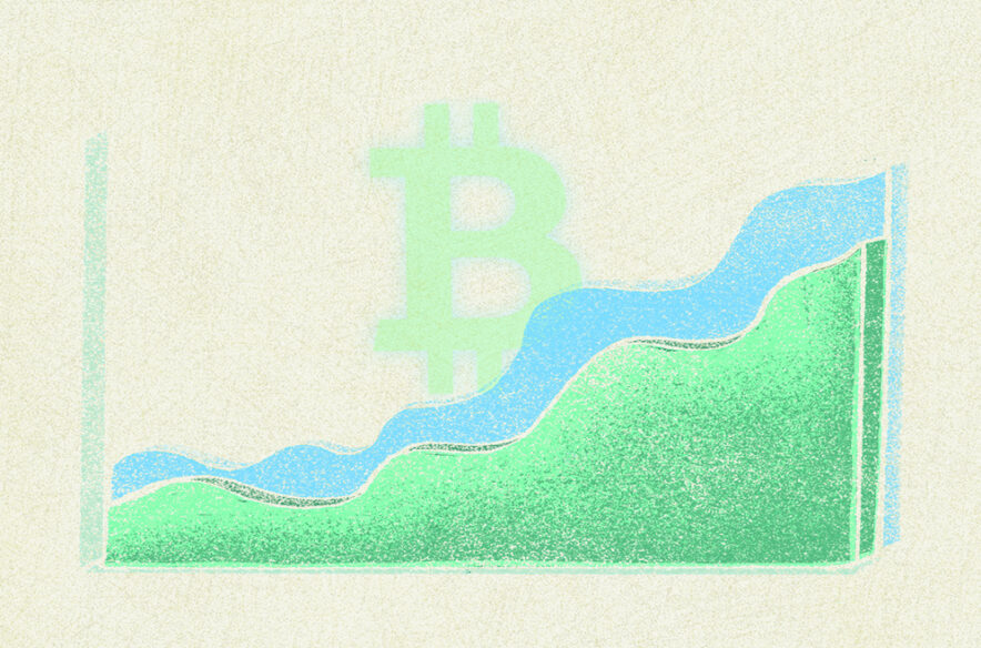 Illustration to accompany article about recent Bitcoin price increase