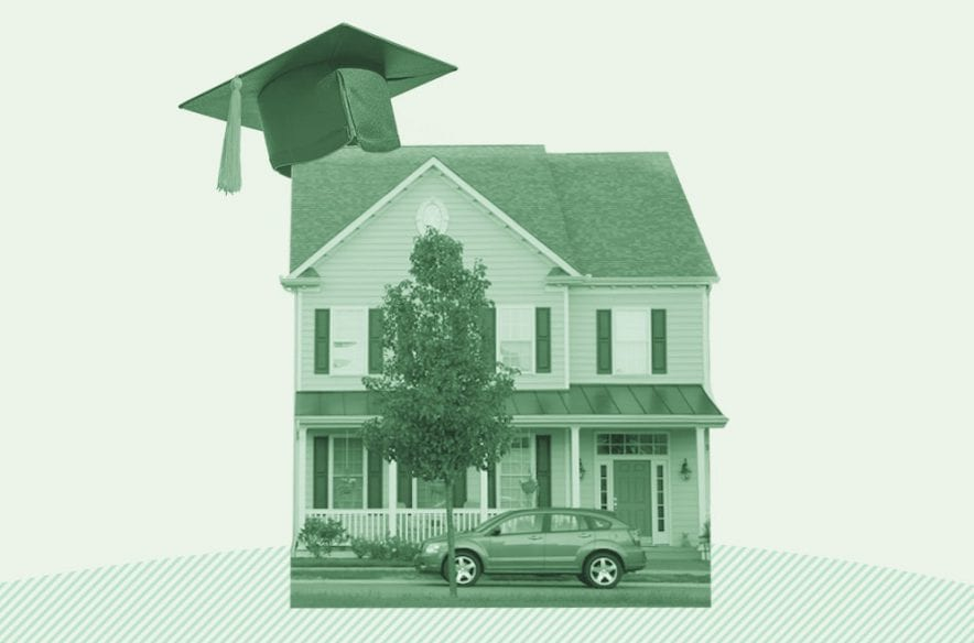 A photo to accompany a story about how student loans affect mortgages