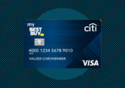 Photo illustration to accompany article review of best buy credit card