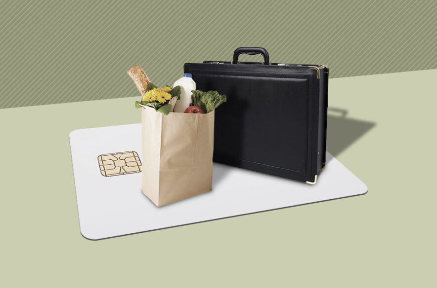 A photo to accompany a story about business vs. personal credit cards