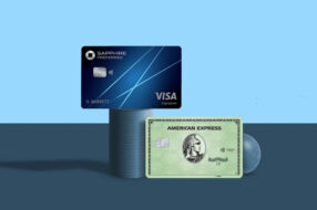 A photo to accompany a story about the Chase Sapphire Preferred card vs. the American Express Green card