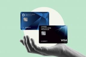 A photo to accompany a story about the Chase Sapphire Preferred and Chase Sapphire Reserve cards