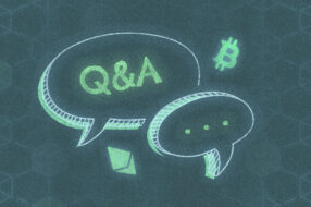 A photo to accompany a story about cryptocurrency questions