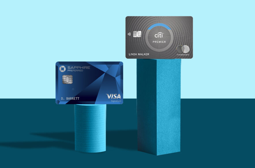 An image to accompany a story about the Chase Sapphire Preferred and Citi Premier cards