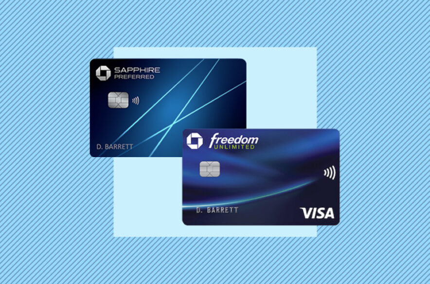 A photo to accompany a story about the Chase Sapphire Preferred and Chase Freedom Unlimited credit cards
