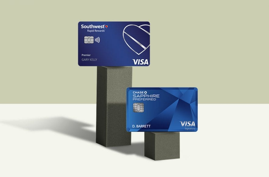 A photo to accompany a story about the Chase Sapphire Preferred vs. the Southwest Rapid Rewards Premier cards