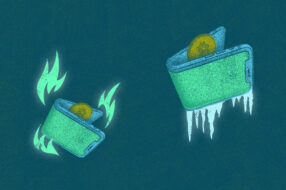 An image to accompany a story about hot vs. cold crypto wallets