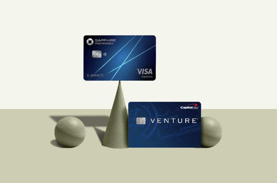 A photo to accompany a story about the Chase Sapphire Preferred and Capital One Venture credit cards