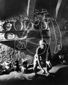 Pablo Picasso by Gjon Mili, 1949