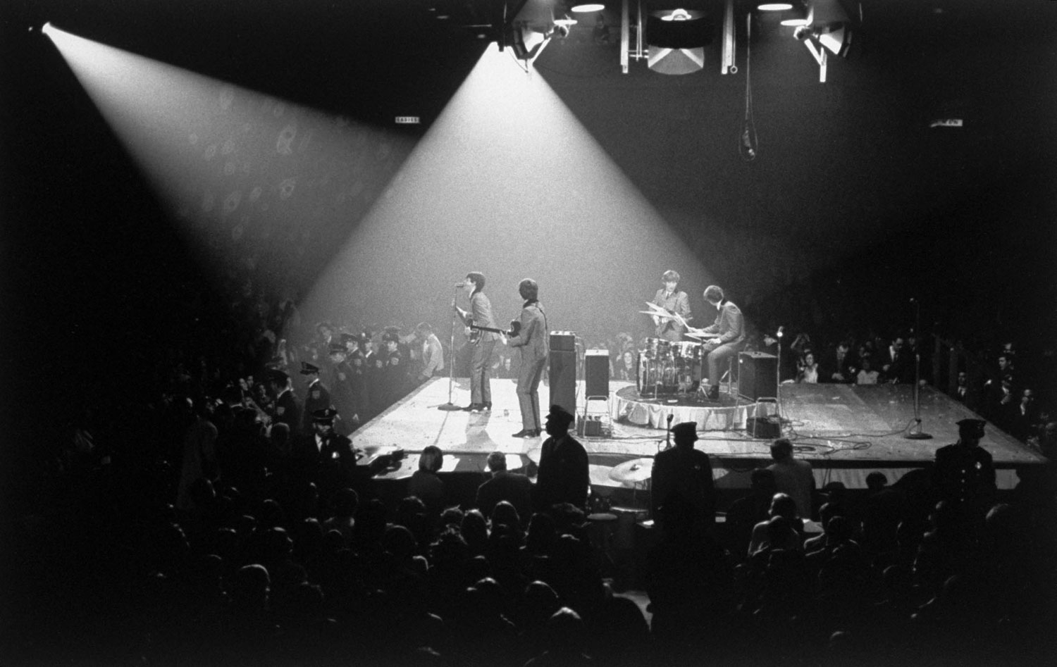 The Beatles play in Washington, DC, on February 11 1964.