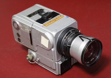 A Hasselblad Lunar Module Pilot Camera on Jan. 30, 2014 at the Westlicht gallery in Vienna.