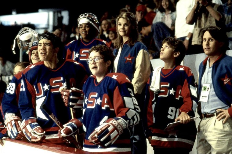 "Team U.S.A. in ""D2: The Mighty Ducks"""