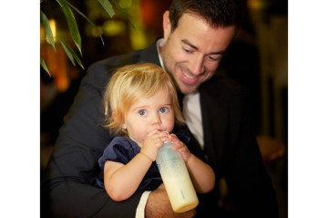 Carson Daly with his daughter