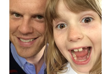 Willie Geist with duahgter