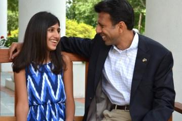 Bobby Jindal with Selia