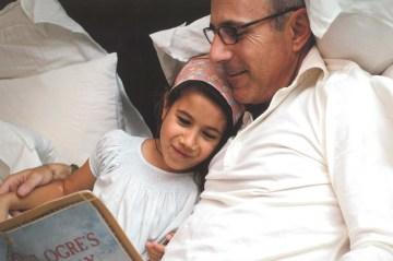 Matt Lauer with child