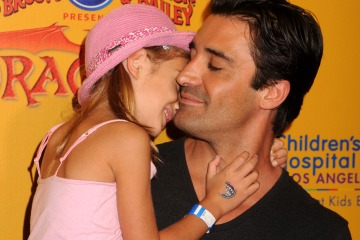 Gilles Marini with his daughter