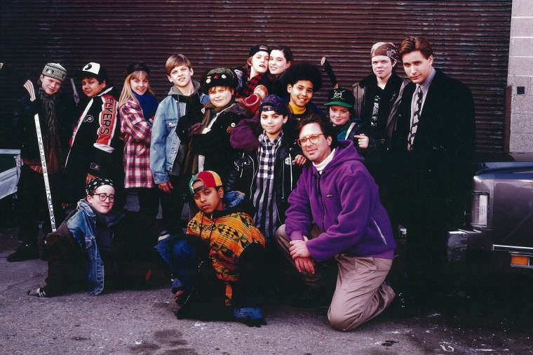 "The cast of ""The Mighty Ducks."""