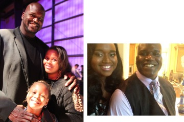 Shaq with his daughters