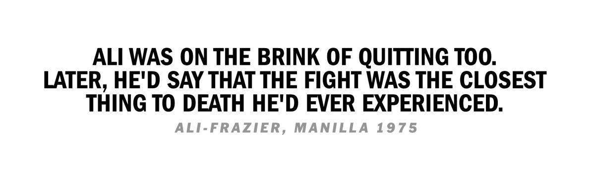 Ali Frazier Manila Quote 1975