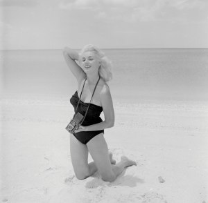 A self-portrait of Bunny Yeager Naples, Fla., in 1960