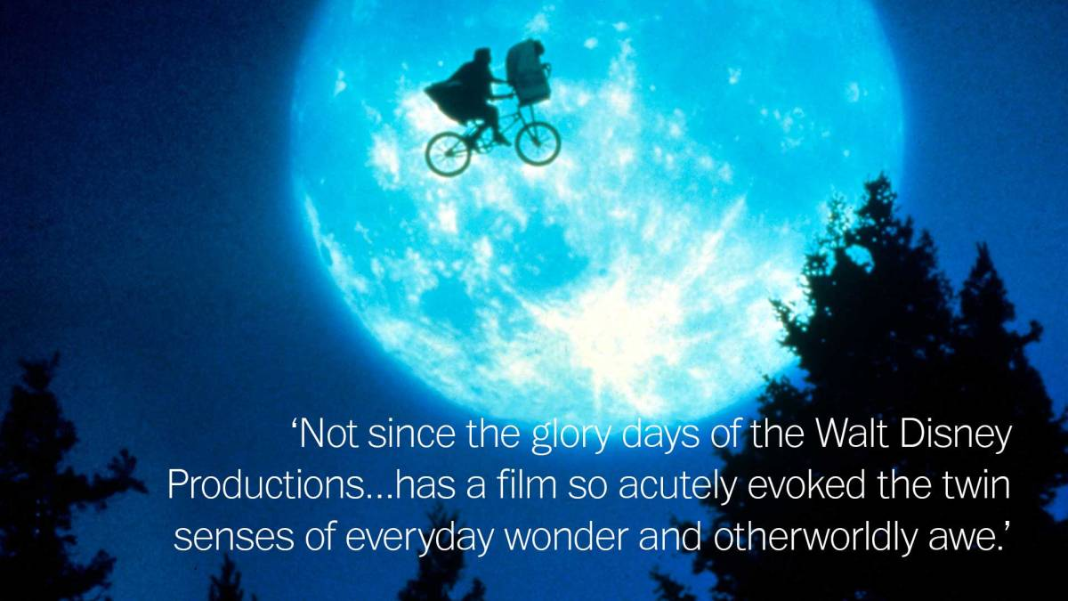 Quote from his 1982 review of  E.T. the Extra-Terrestrial; Universal Pictures/REX