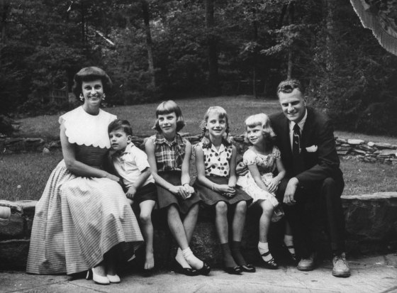 Billy Graham with his family in 1955