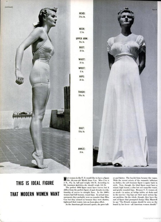 1938 Ideal Figure LIFE magazine