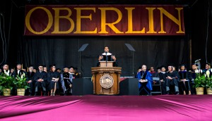 Michelle Obama gave the 2015 commencement speech at Oberlin College