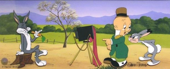 """Picture the Future"" a hand-painted cel art edition by Chuck Jones"