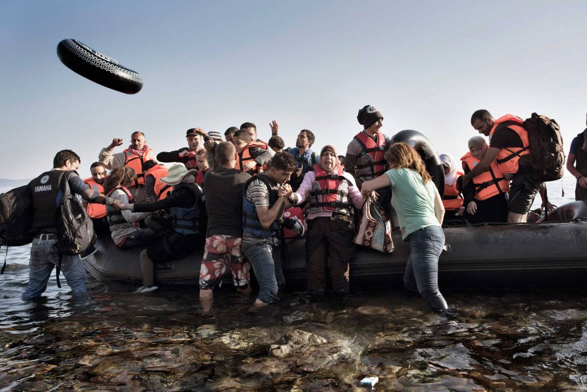 syria refugees migrants lesbos
