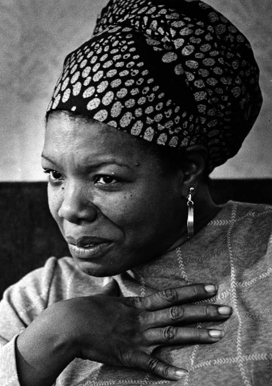 Maya Angelou during an interview in Washington, D.C. on June 3, 1974.