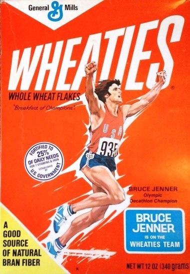 Bruce Jenner on Wheaties box