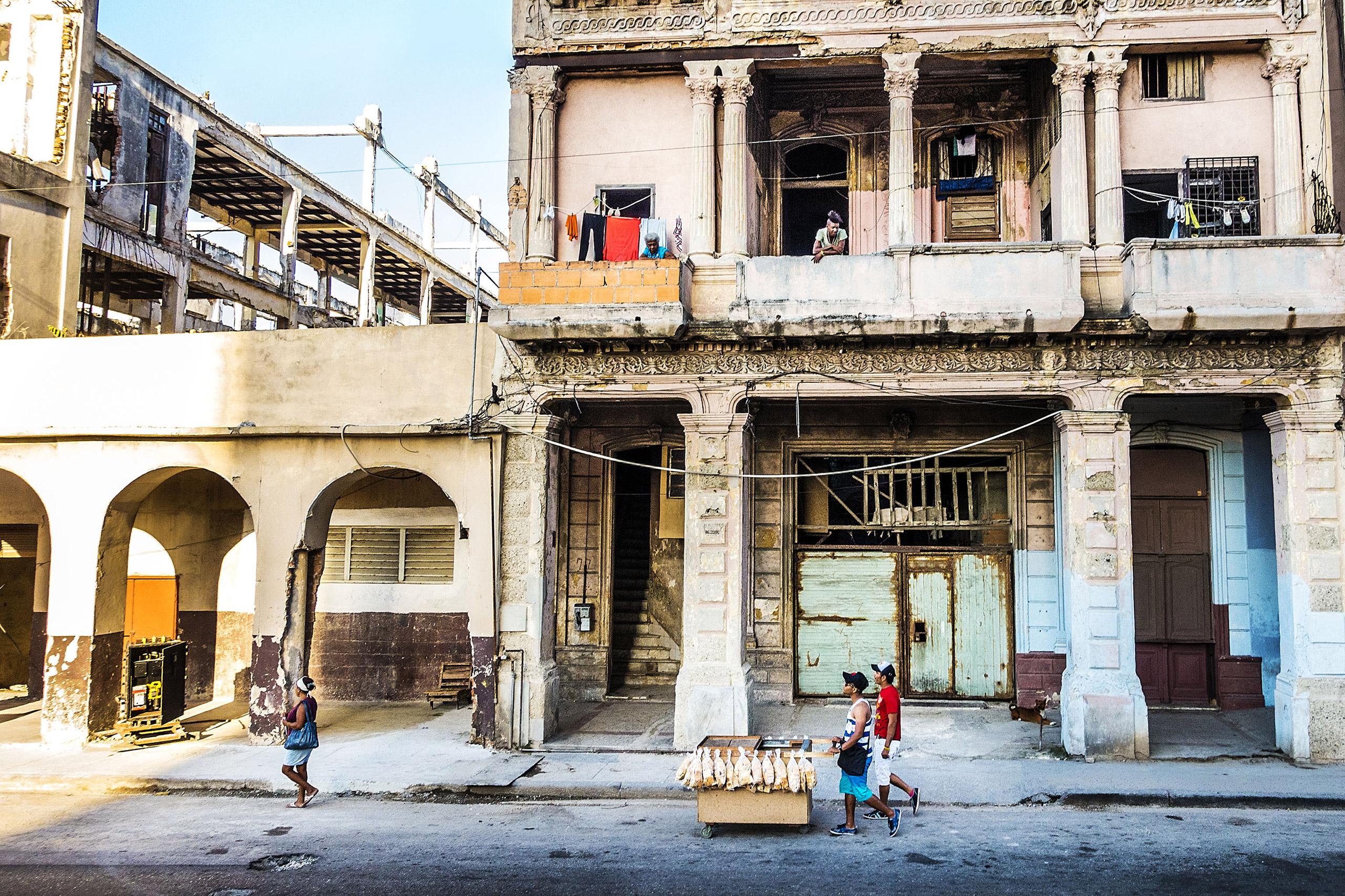 A street scene in central Havana, Cuba, March 15, 2015.