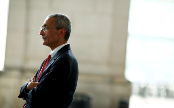 John Podesta stands outside Union Station in Washington on July 13, 2010.